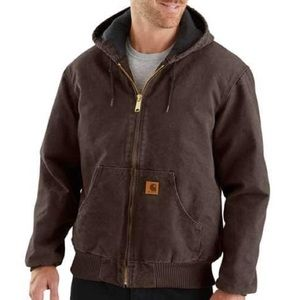Carhartt Coat - Duck Quilted Flannel Lined
